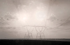Everybody Knows This is Nowhere (kirstiecat) Tags: everybodyknowsthisisnowhere neilyoungsong lyrics song music electricity powerlines power landscape blackandwhite multipleexposure creative experiment monochromemonday monochrome noiretblanc cinematic atmosphere mood
