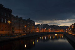 Cool evening (Apercoat) Tags: evening night saintpetersburg griboedov channel water cityscape city lights mirror