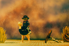 The Loner (3rd-Rate Photography) Tags: cowboy ostrich lego western desert toy toyphotography canon 50mm 5dmarkiii jacksonville florida 3rdratephotography earlware 365