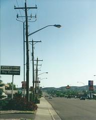 Vernal Utah (J_Piks) Tags: usa street road highway streetlights streetlighting lampposts telegraphpoles vernal utah
