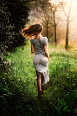 Running To Nowhere. (FlorianPascual) Tags: ifttt 500px meadow grass park tall lawn countryside sundress field rubber boot summer timothy rural scene
