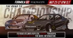 Formula D2 Round 5: Road Atlanta (lukefarfaksiek) Tags: formulad2 fd2 tokagoya second life secondlife gt86 rx7 drift tandem car