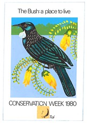 'The Bush: A Place to Live' artwork, 1980 (Archives New Zealand) Tags: archivesnewzealand archives archivesnz newzealand art artwork conservation conservationweek 1980 marine wetlands seacoast mountains birds animals nativebirds flowers flora fauna