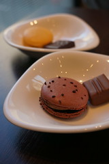 chocolate macaron (nearbyescape) Tags: sweets delicious tabletop table afternoon treat food styling tasty chocolate dessert happy bokeh sony alpha yum