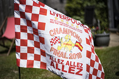 You win some, you lose some.... (Reckless Times) Tags: lfc liverpool reds red white flag allez champions league final chequered garden bbq football soccer ynwa 100x project nikon d750