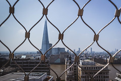 Shardonday (NVOXVII) Tags: theshard wire view framing london skyscraper architecture urban arty canon eos viewpoint
