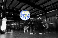 Vivid Earth (Mr Clicker / Davin) Tags: mr clicker davin vivid sydney 2018 blackandwhite selective colour popping planet earth