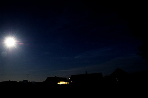 The Moon, Jupiter, and the ISS
