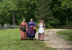 Three Ladies (scottnj) Tags: civilwar civilwarreenactment civil war encampment allairestatepark 2018 actors reenactors