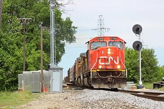 CN M38331-01 - Wyandotte, Michigan