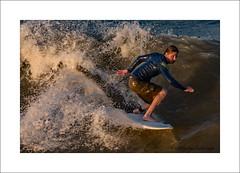 Surfer at sunset (prendergasttony) Tags: atlantic water ocean nikon d7200 florida jacksonville beach sunset wave action board legs tonyprendergast wet surfer surf sport