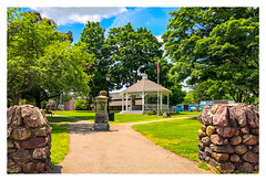 The Common (Timothy Valentine) Tags: 2018 bandstand flag large clichésaturday pathway park trees 0618 northattleborough massachusetts unitedstates us
