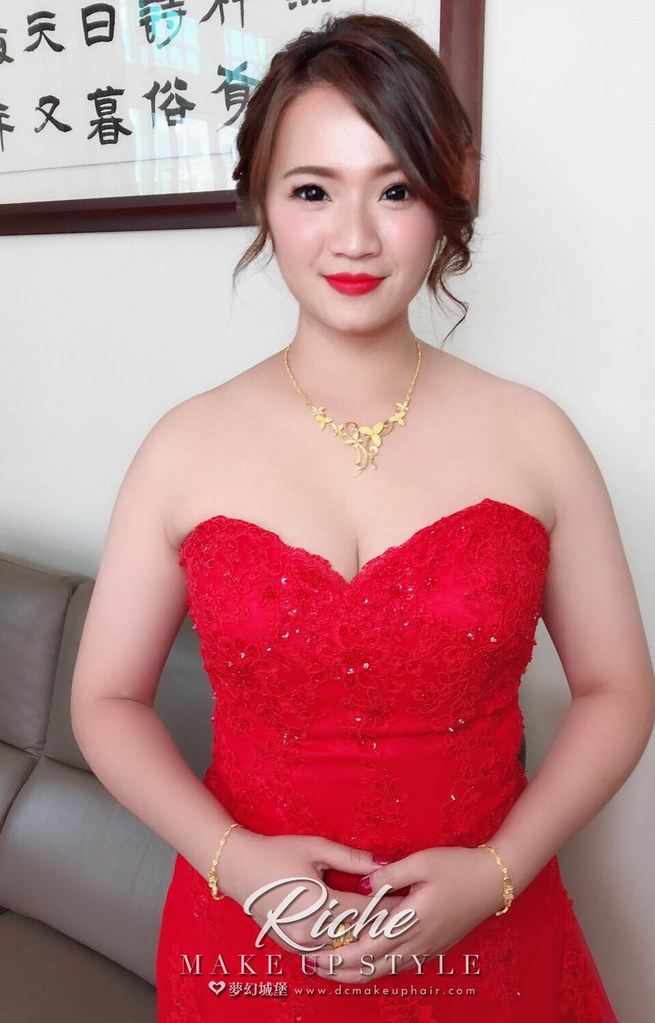 【新秘RICHE】bride子華 訂婚造型 / 南投自宅