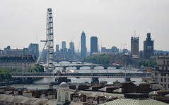 DSCN0966c View over the Thames from Bush House, London. 9th June 2018 (Paul Ealing 2011) Tags: thames london view from bush house 9th june 2018 eye parliament