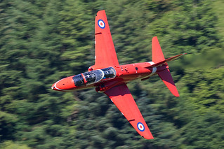 Red Arrows Hawk low level in Wales