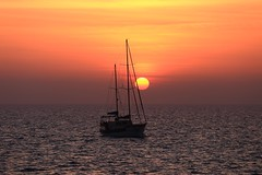 Sailing at sunset - Tel-Aviv beach - Follow me on Instagram:  @lior_leibler22 (Lior. L) Tags: sailingatsunsettelavivbeach sailing sunset telaviv sailboat telavivbeach israel
