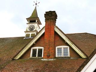The clock tower, Hastoe Village Hall