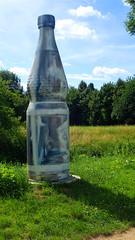 Genie in a bottle / Flaschengeist (david_m.hn) Tags: flasche bottle kunst art graffiti geist ghost genie mineralwasser mineral water bad vilbel hesse germany