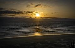 Pacific Sunset (TCeMedia/Telecide) Tags: sunset landscape sky pacific ocean nature water newport oregon or golden clouds sea beach twilight sun