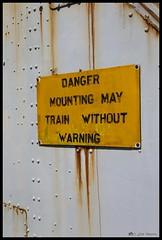 DANGER (Mr Mo-Fo) Tags: warning sign yellow rust grey rivetts gun royalnavy weathered turret danger canoneos1dx desmorris