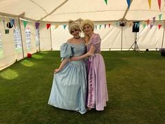 Rapunzel and Cinderella (Elysia in Wonderland) Tags: rapunzel cinderella marvellous events disney cosplay costume princesses princess becca elysia kick off 4 dementia