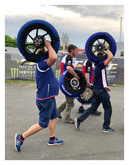 You turn your back for a minute and ... (The Stig 2009) Tags: wheels tyres tires warmers pit crew iom tt isleofman race races racing paddock thestig2009 thestig stig 2009 2018 tony o tonyo motorbike motorcycle