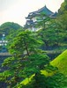 Japanese Palace (Steve4343) Tags: steve4343 japanese palace tokyo japan through trees tree green yellow orange blue red color colors beautiful