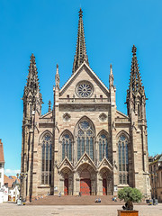 St. Stephen's Church Mulhouse, Alsace, France (Peter Beljaards) Tags: france frankrijk alsace elzas mulhouse church ststephenschurch placedelaréunion cathedral