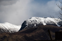 Spring Arrives on Ben Nevis (armct) Tags: ridge skyline sky reflection glow afternoon sunshine face steep rugged spring melt thaw snowcapped peaks mountain fortwilliam bennevis