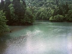 Lake Ashibetsu (threepinner) Tags: ashibetsu lake summer hokkaidou hokkaido northernjapan japan pearl hexar 75mm f35 positive selfdeveloped 芦別湖 芦別 北海道 北日本 日本
