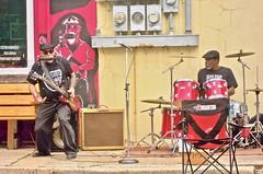 blues'in in the street ~ watch: (Clarksdale MS) (Shein Die) Tags: blues street jukejointfestival festival guitar drums streetphotography clarksdale mississippi festivals music