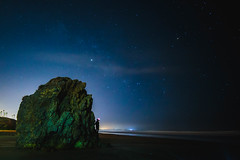 Lighting the way (CaptSpaulding) Tags: canon california color centralcoast 6d pismo pismobeach sky sea stone sand nature nightshot night water waves cave stars landscape