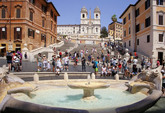 Popular meeting point at the Iconic Spanish Steps (B℮n) Tags: fontanadellabarcaccia scalinataditrinitàdeimonti spaansetrappen obeliscosallustiano spanishsteps piazzadispagna keats–shelleymemorialhouse 138steps roma rome italy italië italia city meeting point roman holiday vacation piazza spagna square sallustiano tourist church french king monti egyptian pope stairs spanish barcaccia fountain steps history boat towers feyenoord ancient hotspot eternal 100faves topf100