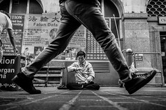 Leap Of Faith (SlikImage Photography) Tags: 2018 street blackandwhite candid monochrome bw stevebeckett d750 nikon people urban london chinatown