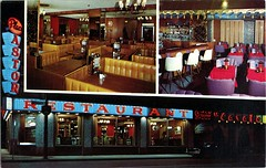 Place Astor Restaurant, Montreal, Quebec (SwellMap) Tags: postcard vintage retro pc chrome 50s 60s sixties fifties roadside mid century populuxe atomic age nostalgia americana advertising cold war suburbia consumer baby boomer kitsch space design style googie architecture