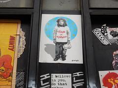 Citizen of nowhere (aestheticsofcrisis) Tags: street art urban intervention streetart urbanart guerilla guerillaart graffiti postgraffiti london uk shoreditch hackney brick lane pasteup wheatpaste stencil schablone pochoir