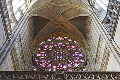 Rose Window (Ellsasha) Tags: stvituscathedral prague praguecastle churches centraleurope architecture modern rose stainedglass perspective