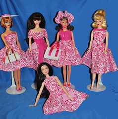 Pink Floral (toomanypictures1) Tags: ooakclothes barbie francie curvy reproduction american girl made move mattel