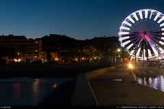 Ferris Wheel (Ludtz) Tags: ludtz canon canoneos5dmkiii lelavandou 83 printemps spring provence mediterraneansea méditerranée 5dmkiii ef35|2is nightlights night nuit lumièrenocturne dusk crepuscule bluehour heurebleue plage beach frontdemer granderoue ferriswheel blue bleu