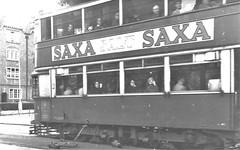 London transport E3 tram Lee Green  circa 1951. (Ledlon89) Tags: trams tram tramway londontrams london transport lt lte londontransport woolwich newcross southlondon selondon southeastlondon electrictransport 1951 1950s