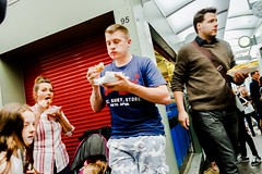 It's National Fish & Chip Day Today (denise.ferley) Tags: citylife fun oneaday marketstall takeawayfood fishandchips peopleeating peopleinthestreet peoplewatching norwichmarket thisisnorwich thisisengland uk nationalfishchipsday