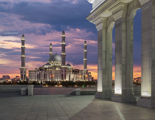 Hazret Sultan mosque. Astana city (Kazakhstan)