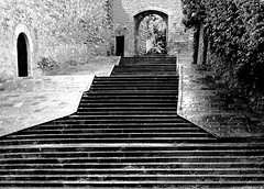 Old staircase (chrisk8800) Tags: architecture staircase old stone lines geometric barcelona