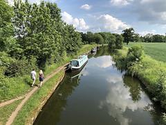 20180603_Run along the canal (Damien Walmsley) Tags: canal knowle water longboat grandunioncanal sunday running