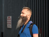 warning (Cosimo Matteini) Tags: cosimomatteini ep5 olympus pen m43 mzuiko45mmf18 michaelwhite portrait london shoreditch gate beard moustache sign warning