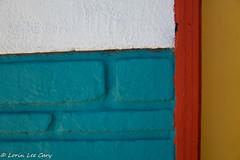 Wall & Edge of Door (lorinleecary) Tags: blue nd8x sigma30mm white abstract brick colors red wall yellow 14 morrobay