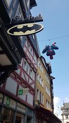 TheMarvel'sAtMarburg (BphotoR) Tags: spiderman batman marvels comic marburg hesse hanging altstadt june