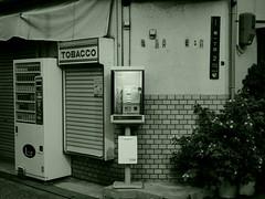 A national hero (OskTani.) Tags: telephone asia japan black white