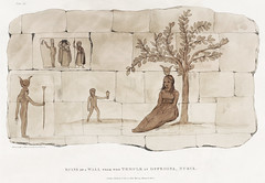 Plate 29 : Figures taken from an ancient wall near the Temple at Offedina in Nubia illustration from the kings tombs in Thebes by Giovanni Battista Belzoni (1778-1823) from Plates illustrative of the researches and operations in Egypt and Nubia (1820).