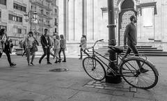ORBEA SalaBiKE (161/365) (Walimai.photo) Tags: bike bici bicicleta bicycle salamanca street spain españa lx5 lumix panasonic black white blanco negro byn bw branco preto blanc noir calle robado